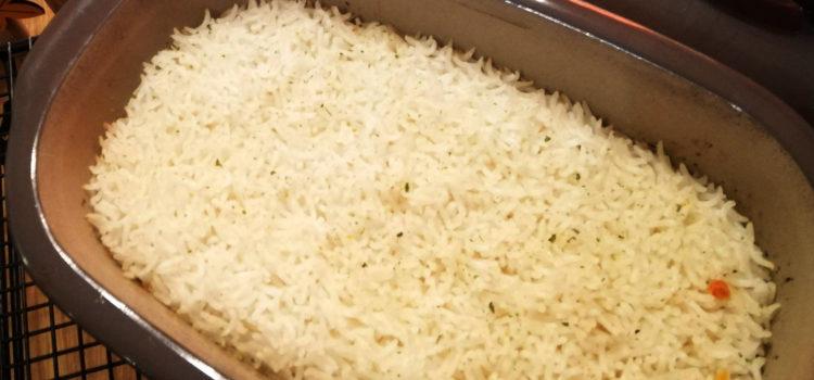 Reis aus dem Ofen im kleinen Zaubermeister Lily von Pampered Chef